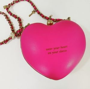 Rare Kate Spade Ooh La La Bellini Heart Purse